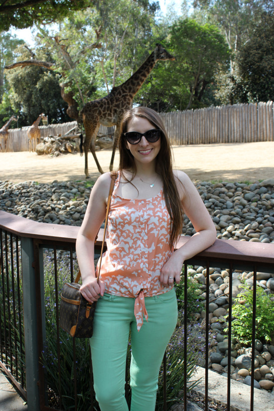 Easter Sunday Outfit at the Zoo